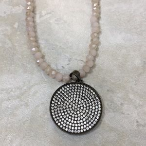 Crystal & pendant necklace